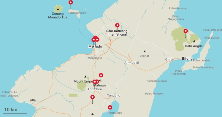 Nord Sulawesi (maps.me)