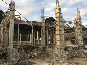 Sawinggrai - construction de la nouvelle église